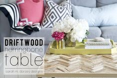 Today, I like to share some of my favorite DIY projects on the web. I am inspired by each of them, and sometimes I even recreate... Diy Craft Projects, Home Projects, Diy Crafts, Furniture Projects, Diy Furniture, Driftwood Coffee Table, Diy Table, Home Living Room, Apartment Living