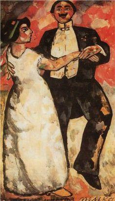 Argentine Polka, 1911 - Kazimir Severinovich Malevich: Russian painter & art theoretician. Pioneer of geometric abstract art & originator of avant-garde, Suprematist movement. (23 Feb, 1879, Kiev, Ukraine ~ 15 May, 1935, Saint Petersburg, Russia) Wikipedia http://www.wikipaintings.org/en/kazimir-malevich/argentine-polka-1911