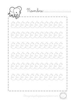 #preescolar #imprimibles #gratis actividades caligrafia para el colegio o repasar en casa