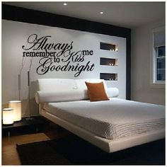 Always Remember To Kiss Me Goodnight   Vinyl by SweetumsSignatures, $4.75