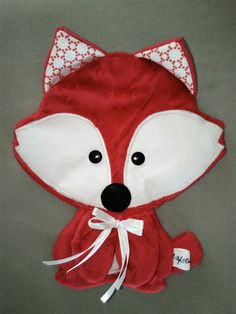 Doudou Plat....Renard rose-rouge Tagada ....Made in Breizh : Jeux, peluches…