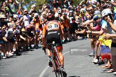 #TDU 19th Santos Tour Down Under 2017/ Stage 5 - Men Richie PORTE (AUS) Orange Leader Jersey / Fans/ Public/ McLaren Vale - Willunga Hill 382m (151,5Km)/ BikeExchange Stage / Men / TDU/ pool GW / / ©Tim De WaeleKT/Tim De Waele/Corbis via Getty Images)
