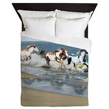 PILLOW_Painted Ocean Queen Duvet for