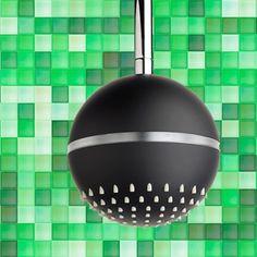 Brusehoved med LED lys i kugle formet design Vildt flot! Water Globes, Led, Design, Water Balloons