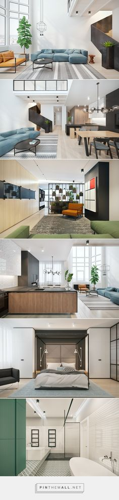 Carrying patterns and colours across living spaces - created via…