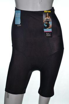 2b2880b36 Bali Ultra Control Stay Cool Comfort High-Waist Thigh Slimmer 8097 Black  Size M