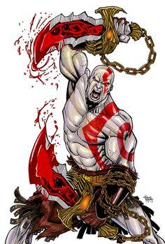 Kratos - God of War - tattoo Kratos God Of War, Comic Books Art, Comic Art, God Of War Series, Best Gaming Wallpapers, War Tattoo, Lord Shiva Painting, Game Character Design, Mortal Kombat