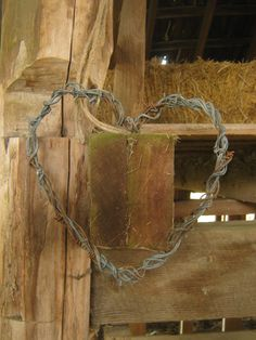Old Barbed Wire Heart