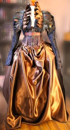 By the beard of Jules Verne himself, this is an astonishing piece of Victorian Fantasy garb. #Steampunk