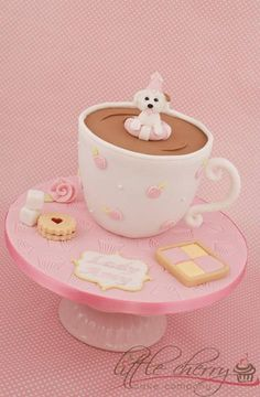 Dog in Cuppa Cake Cupcakes, Cupcake Cakes, Dog Food Online, Cheap Dog Food, Girly Cakes, Candy Cakes, Dog Cakes, Cakes For Women, Birthday Cake Girls