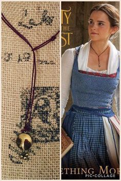 Beauty and the beast necklace  Emma watsons  Belle's