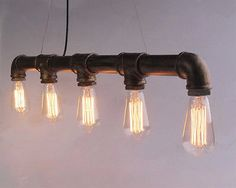 NEW Bar Personality Industrial Pipe Edison Bulbs Pendant Light FREE SHIPPING