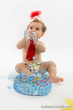 Claudia Lopes Fotografia - Portfólio - Pedro | 1 aninho | Smash the Cake