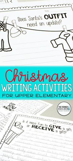 "Opinion writing for Christmas season! Full lessons, each focused around one of 4 engaging questions, like, ""Is it more fun to give a gift or receive a gift?"" and ""Does Santa's outfit need an update?"" Carefully chosen facts included for students to analyze, discuss, and use to support their opinions. Complete with lesson plans, printables, and extensions. Gr 3-5 ($) Or see the Full-Year Bundle here: https://www.teacherspayteachers.com/Product/Fact-Based-Opinion-Writing-BUNDLE-2480913"