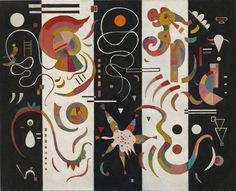 Global Gallery 'Striped (Raye)' by Wassily Kandinsky Graphic Art on Wrapped Canvas Wassily Kandinsky, Painting Frames, Painting Prints, Wall Art Prints, Monet, Art Du Monde, Oil Painting Reproductions, Art Moderne, Art Abstrait