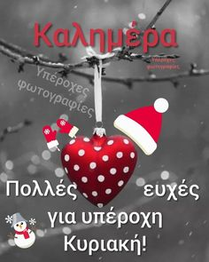 Good Morning, Christmas Ornaments, Christmas Ideas, Holiday Decor, Greek Quotes, Sunday, Gardening, Logos, Fotografia