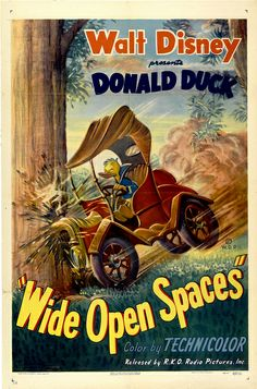 Theatrical poster of Donald Duck in Wide Open Spaces.
