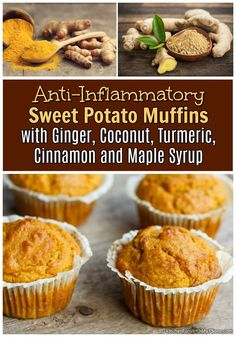 Anti-Inflammatory Sweet Potato Muffins - Good For Reducing Fatigue, Sore Chest, Joint Pain and more! - Sweet Potato Anti-Inflammatory Muffins – Kitchen Fun With My 3 Sons - Cookies Gluten Free, Gluten Free Recipes, Vegetarian Recipes, Sweet Potato Muffins, Sweet Potato Recipes, Sweet Potato Bake Recipe, Sweet Potato Flour, Sweet Potato Dessert, Healthy Baking