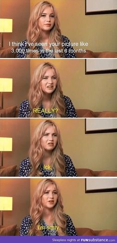 I have a recent obsession with Jennifer Laurence, not as an actress, but her personality is so fresh and funny! I'm jealous!