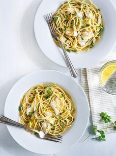 Recette de Ricardo de spaghettis à l'aiglefin et au citron