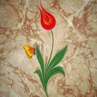 ebru art from  Cappadocia