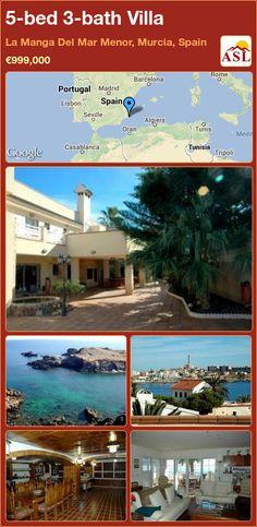 5-bed 3-bath Villa in La Manga Del Mar Menor, Murcia, Spain ►€999,000 #PropertyForSaleInSpain