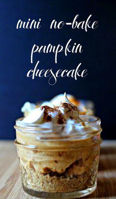 Mini No-Bake Pumpkin Cheesecake in a Jar.  These make a GREAT edible gift! #TastetheSeason #AD