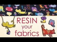 Resin Your Fabric Scraps for Jewelry, Buttons, and embellishments