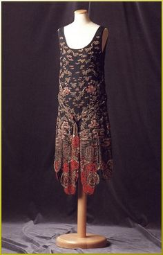 1925 Chanel Chinoiserie Evening Dress