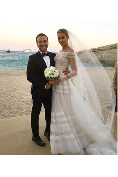ANA BEATRIZ BARROS tied the knot to businessman Karim El Chiaty in Mykonos this weekend