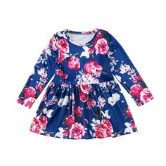 Blue Velvet Floral Dress Buy it today from www.presentbaby.com  We sell a wide array of baby clothing, socks, shoes, bottles, blankets and more. For more information visit our website today.  #boy #cutest #floral #bottles #shoes #gender #socks #toddler #clothes #romper #dresses #infant #winter #summer #baby
