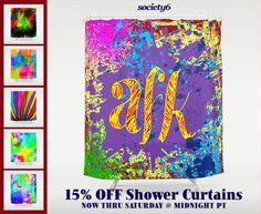 15% OFF Shower Curtains | via Tumblr #decor