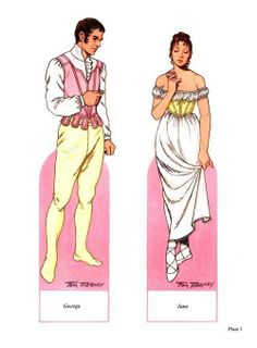 Fashion of the Regency Period Paper Dolls