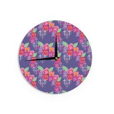 """Anneline Sophia """"Beautifully Boho"""" Purple Wall Clock"""