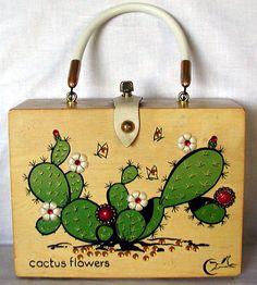 Enid Collins Vintage Box Bag Cactus Flowers by TheVintageHandbag, $98.00