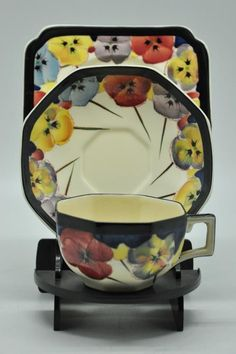 English Porcelain - Royal Doulton Pansy Pattern Trio for sale in Johannesburg (ID:226223948)