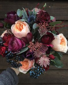 "1,234 Likes, 33 Comments - Steph Turpin (@fairynuffflowers) on Instagram: ""Dream December colours in this bridesmaid's bunch """