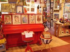mary mack's red piano too art gallery, frogmore
