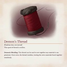 Homebrewing dnd Spools of this thread are hard to find outside of the Nine Hells, and much blood has been spilled in attempts to obtain them. Dungeons And Dragons Memes, Dungeons And Dragons Homebrew, Dnd Dragons, Magia Elemental, Dnd Stories, Dungeon Master's Guide, Dnd Funny, Dnd 5e Homebrew, Dragon Memes
