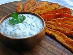 Thanksgiving Dinner: Roasted Sweet Potato Wedges with Smoked Chile Cream