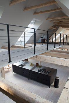 Vipp kitchen - modular kitchen island in black made in stainless steel