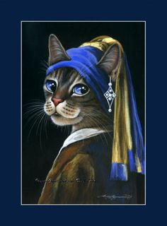 """Girl With Pearl Earring"" from an original by Irina Garmashova (Russian)"