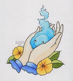 """have heart"" / howls moving castle Studio Ghibli Tattoo, Studio Ghibli Art, Studio Ghibli Movies, Anime Tattoos, Tatoos, Pen And Watercolor, Watercolor Heart, Image Manga, Pics Art"