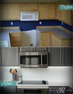 Get rid of that builder cabinet look without the price of a new kitchen. How to…