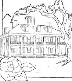 Fantasy Coloring Pages for Adults | coloring pages > house
