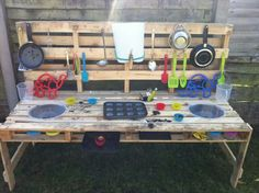 Mud kitchen up and running!