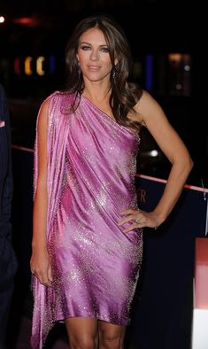 Pin for Later: We Think We Know What Colour Elizabeth Hurley Will Wear For Her Birthday Party October 2010 Elizabeth Jane, Elizabeth Hurley, Sexy Older Women, Classy Women, Satin Dresses, Nice Dresses, Sleeveless Dresses, Gothic Corset, Gothic Steampunk