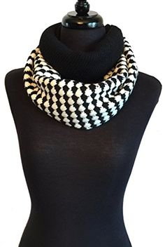 Womens Scarve Button Warm Winter Infinity Neck Scarf Shawl Mini Poncho Wrap (FN251-BK) -- Click on the image for additional details.