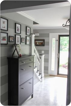 Entry Staircase Remodel ...stripes