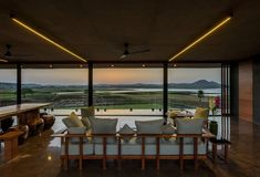 Located Nashik, Maharashtra, India, the Panorama house was designed by Ajay Sonar. The Panorama house is set on the backwaters of the Gangapur Dam in Nasik Concrete Architecture, Indian Architecture, Minimalist Architecture, Light Architecture, Interior Architecture, Le Corbusier, Architectural Lighting Design, Decor Inspiration, Modern House Design